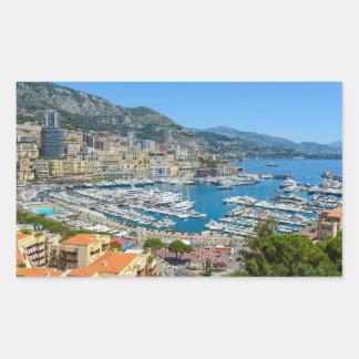 Monaco Monte Carlo Photograph Rectangular Sticker