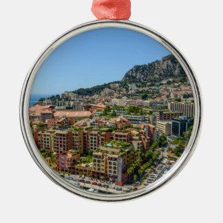 Monaco Monte Carlo Photograph Silver-Colored Round Decoration