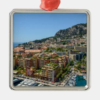 Monaco Monte Carlo Photograph Silver-Colored Square Decoration