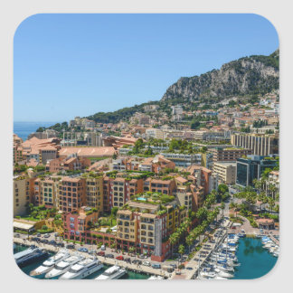 Monaco Monte Carlo Photograph Square Sticker