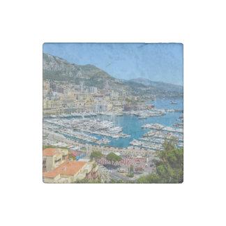 Monaco Monte Carlo Photograph Stone Magnet