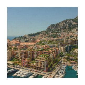 Monaco Monte Carlo Photograph Wood Wall Art