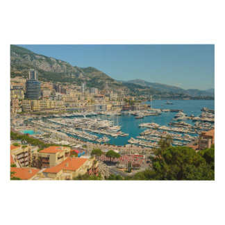 Monaco Monte Carlo Photograph Wood Wall Decor