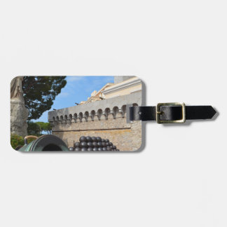 Monaco Palace - cannonballs and cannons Luggage Tag