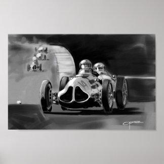 Monaco Race Car Poster