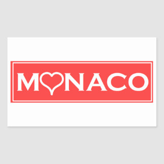 Monaco Rectangular Sticker