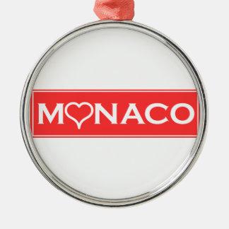 Monaco Silver-Colored Round Decoration