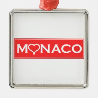 Monaco Silver-Colored Square Decoration