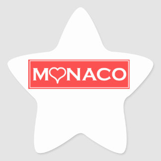 Monaco Star Sticker
