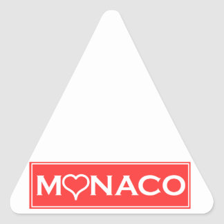 Monaco Triangle Sticker