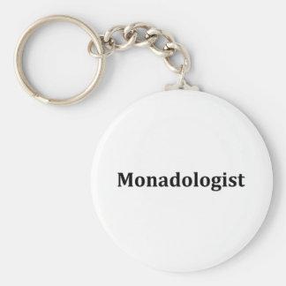 Monadologist Basic Round Button Key Ring