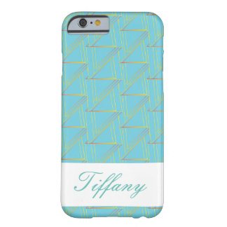 Monagram Geometric Blue Pattern Iphone Case