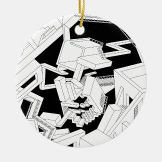 Monalisa face christmas tree ornaments