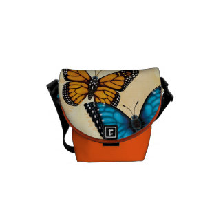 Monarch and Blue Morpho Butterfly Bag Commuter Bag