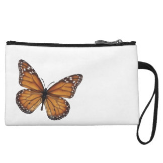 Monarch and Orange Tip Butterflies Wristlet Clutches