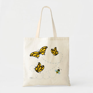 Monarch Butterflies and Bumble Bee Tote Bag