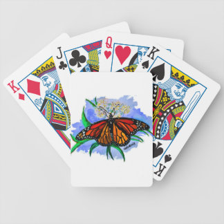 Monarch butterflies bicycle playing cards