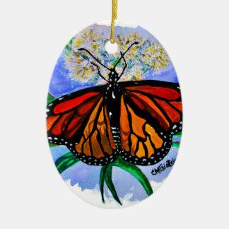 Monarch butterflies ceramic ornament