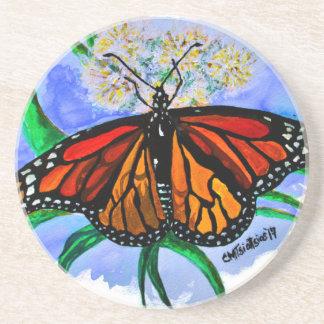 Monarch butterflies coaster