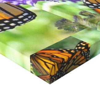Monarch Butterflies Collage Wings Green Garden Canvas Prints