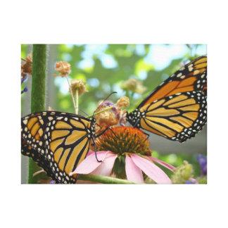 Monarch Butterflies Garden canvas art prints Canvas Print