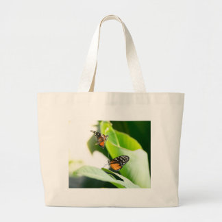 Monarch butterflies large tote bag