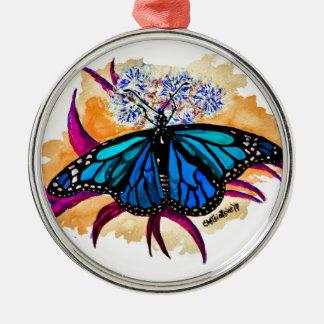 Monarch Butterflies Metal Ornament