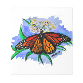 Monarch butterflies notepad