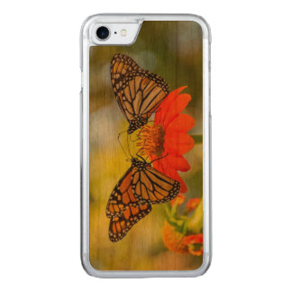 Monarch Butterflies on Wildflowers Carved iPhone 8/7 Case