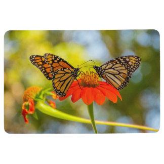 Monarch Butterflies on Wildflowers Floor Mat