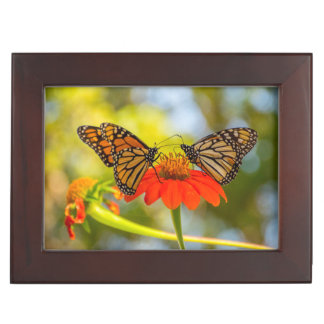 Monarch Butterflies on Wildflowers Keepsake Box
