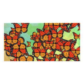 Monarch butterflies picture card