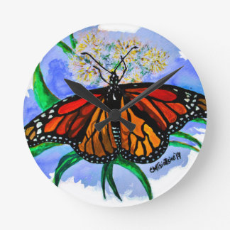 Monarch butterflies round clock