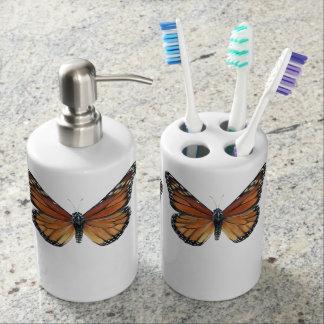 Monarch Butterflies Soap Dispenser And Toothbrush Holder