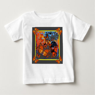 Monarch Butterflies Stormy Weather Art Baby T-Shirt