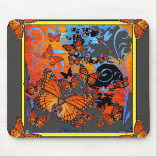 Monarch Butterflies Stormy Weather Art Mouse Pad
