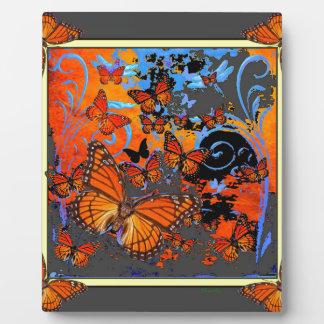 Monarch Butterflies Stormy Weather Art Plaque