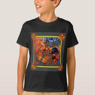 Monarch Butterflies Stormy Weather Art T-Shirt