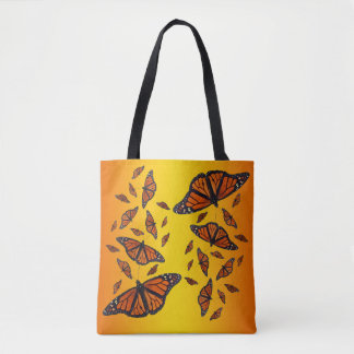 Monarch Butterfly All Over Print Bag (Orange Mix)