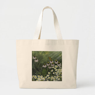 Monarch butterfly and flower canvas bags