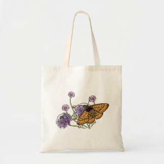 Monarch Butterfly And Flowers Bags