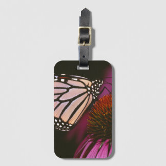 Monarch Butterfly and Purple Flower Luggage Tag