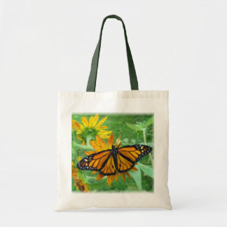 Monarch Butterfly and Sunflowers Budget Tote Bag
