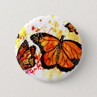 Monarch Butterfly Art02 6 Cm Round Badge