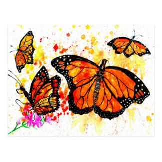 Monarch Butterfly Art02 Postcard