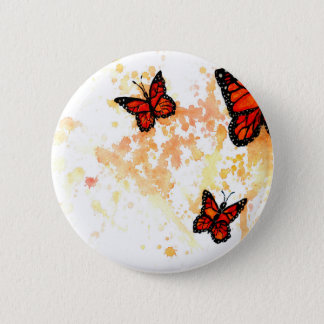 Monarch Butterfly Art 6 Cm Round Badge