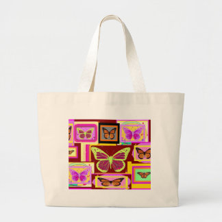 Monarch Butterfly Art in Brown by Sharles Bag