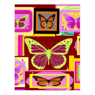 Monarch Butterfly Art in Brown by Sharles Post Card