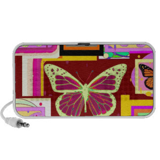 Monarch Butterfly Art in Brown by Sharles Travel Speakers