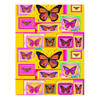 Monarch Butterfly Art in Gold by Sharles Post Cards